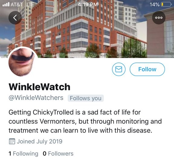 I'm okay with that Vermont police chief's Twitteraccount