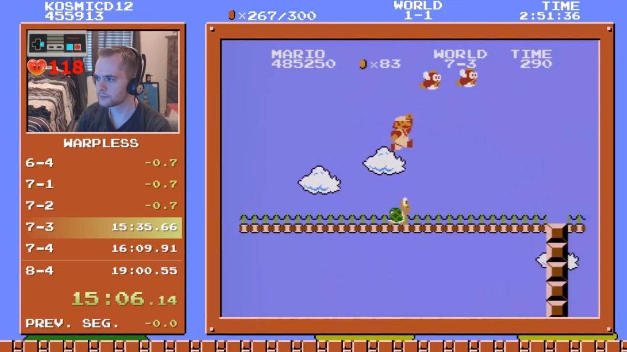 An idiot at the Jim Pattison Group claimed to own dozens of Super Mario Bros.speedruns